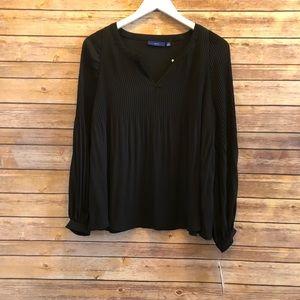 Apt 9 Long Sleeve Pleated Blouse Size XS NWT